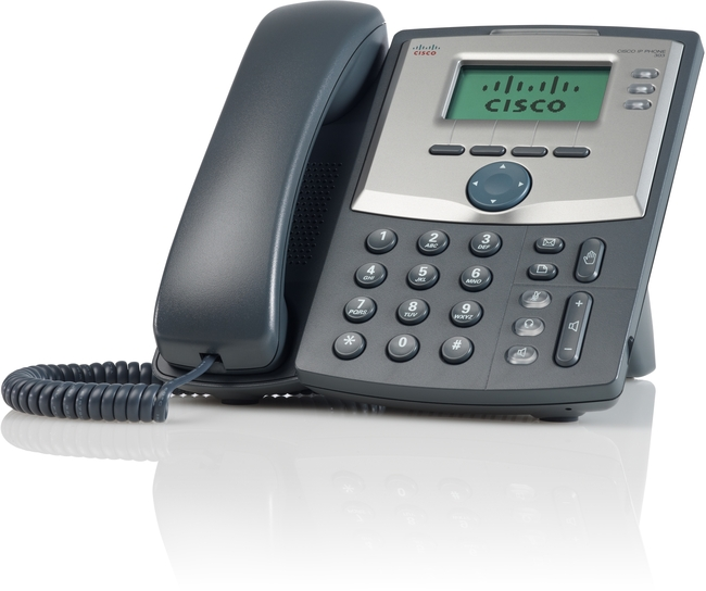 Photograph of Cisco SPA 303G IP Phone with power supply