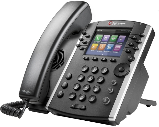 Photograph of Polycom VVX 411 IP Phone